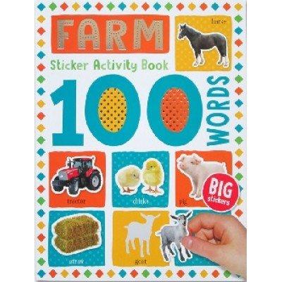 100 Words Sticker Activity Book: Farm